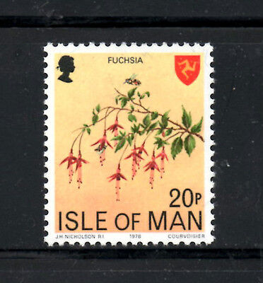 (Ref-7243) Isle of Man 1978-81 Definitive Issues 20p Fuschia's SG.124 Mint (MNH)
