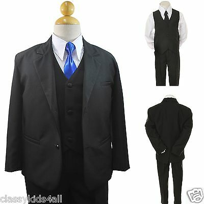 9c2d24d24e0 New Boys Toddler Formal Wedding Tuxedo Suit + Extra Neck Tie sz 5 6 7 8