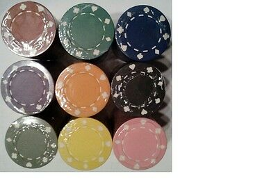200 poker chips 11.5 gram suited edge 10 colors