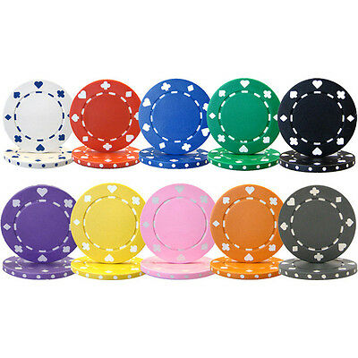 300 poker chips 11.5 gram suited edge choice of 10 colors