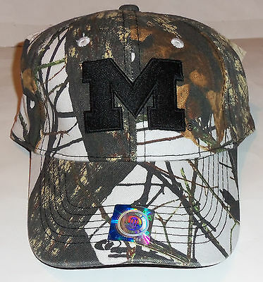 1c00f3d4fd1 Nwt Mens University Of Michigan Wolverines Mossy Oak Camouflage Baseball Hat
