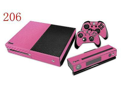 XBox One Console and Controller Skins -- Pink Carbon Fiber (#206)