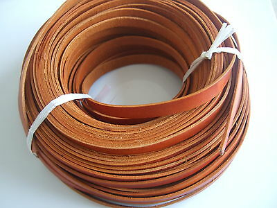 10mm Flat High Quality Camel Tan Genuine Leather Finding Cord String Lace Thong