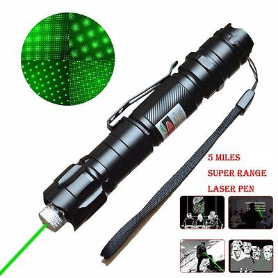 Professional 5mw 532nm 8km Powerful Green Laser Pointer Light Pen Lazer Beam