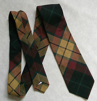 Bnwot New Boys Tie Mod Casual Age 4-10 Tartan Checked Burgundy Gold Green Black