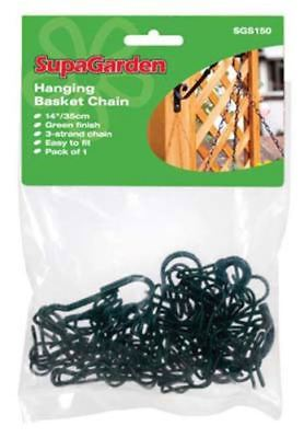 "NEW Garden Hanging Basket Chain 3 Strand Black 18.7""  - FREE SHIPPING"