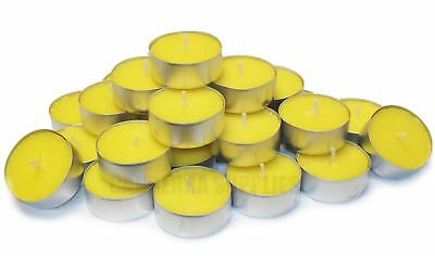 25 x CITRONELLA TEALIGHT TEA LIGHT FRAGRANCED GARDEN CANDLES - LEMON