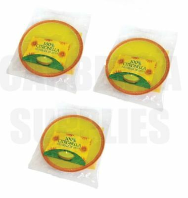 3 X Large Citronella Party Size Candle Fragranced Candles - New