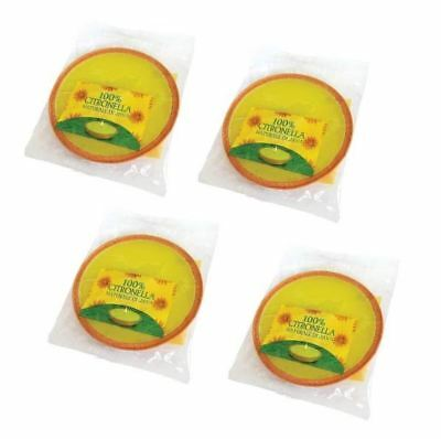 4 x LARGE CITRONELLA PARTY SIZE FRAGRANCED GARDEN CANDLE  - NEW