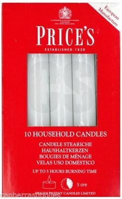 Prices Household Decorative Candles In White Pack Of 10