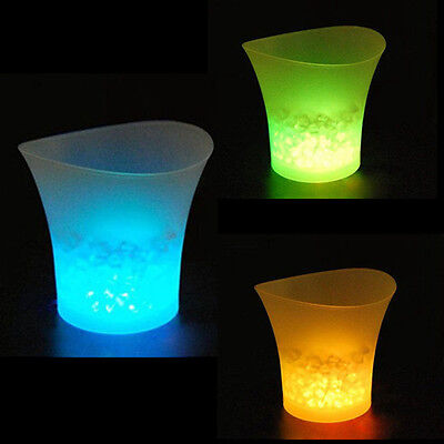 5L LED Ice Bucket Color with Light Change Flashing Cool Bars Night Party BE