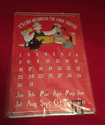 Wallace & Gromit Metal Every Year Calendar - Day Date Marker - Gift