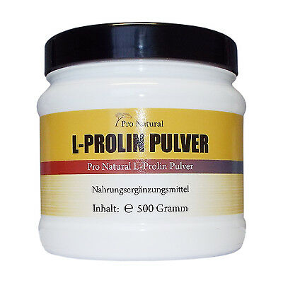 L-Prolin 500g , 100% reines Pulver (wie 1000 L-Proline 500mg Kaps) Top Angebot