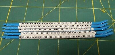 """Hellermann Tyton Clip-Tags Wire Marker Letter """"H"""" *Lot of 130* 16ga to 10ga"""