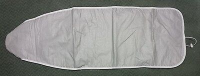 12 X 40 Inches Silver Silicone Ironing Board Cover And 3 Mm Fiber Pad W/ Straps