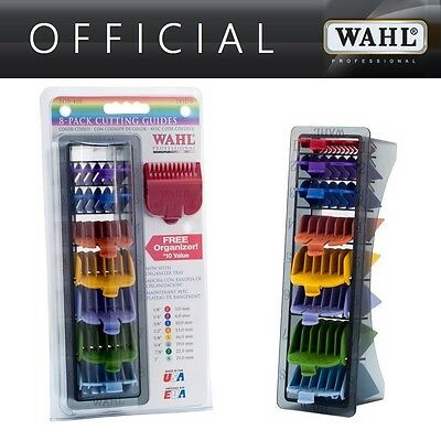 NEW Wahl Colour Coded 8 Comb Attachments for Standard Multi Cut Clippers + Tray