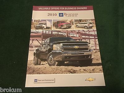 Mint 2010 Gm Business Choice Fleet & Commercial Brochure (Box 727)