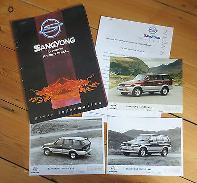 SsangYong Musso 4x4 UK Launch Press Pack/Photographs - 1994
