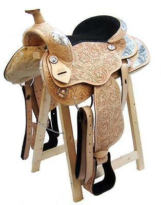 Western Saddle TEXAS buffalo leather high-quality full-Quarter