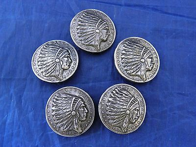 MORGAN  SILVER DOLLAR rep. INDIAN CHIEF  BUTTONS sterling