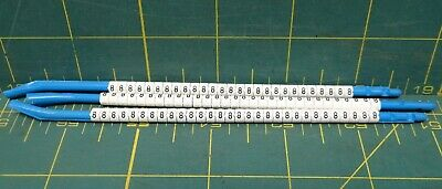 "Hellermann Tyton Clip-Tags Wire Marker Number ""8"" *Lot of 87* 16ga to 10ga"