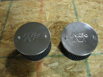 KN air filters for 1.75 SU or Stromberg carburetors, pair