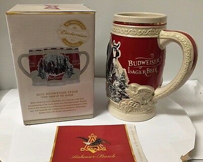 2015 Budweiser Holiday Stein - Christmas Beer Mug from last year...Annual Series