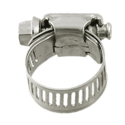 10 Pcs Stainless Steel 13mm to 19mm Hose Pipe Clamps Fastener N3