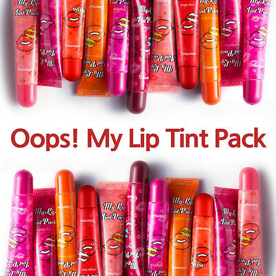 Berrisom Oops My Lip Tint Pack 15g Lip Makeup 9 Colors Lipstick Tatto Cleanser