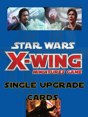 Star Wars X-Wing Miniatures Game- Upgrade Cards CREW CARDS