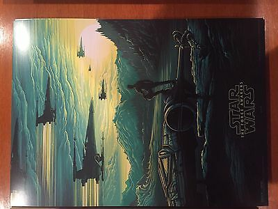 STAR WARS THE FORCE AWAKENS Original Promo Movie Poster #2, 9.5x13 IMAX 2015 AMC