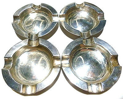 James Dixon And Sons English Sterling Silver Lot Set Of 4 Cigarette Ashtray (S)