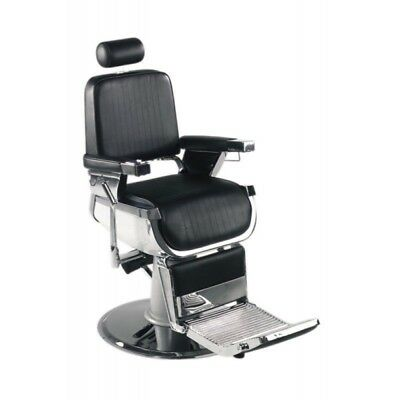 Professional Barber Chair Cutting Chair Black Adjustable Head Rest Reclining