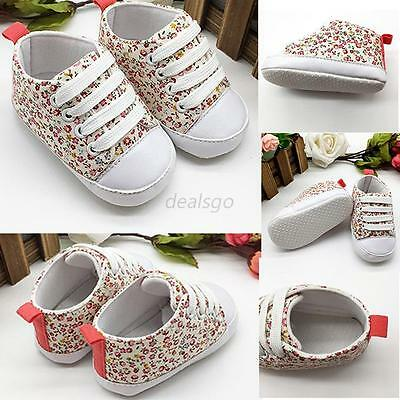 Soft Sole Crib Shoes Infant Toddler Baby Boy Girl Sneaker Newborn to 18Month