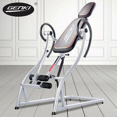 NEW Steel Frame Inversion Gravity Table Genki Fitness Machine 4 Back Pain Relief