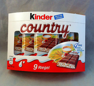 Kinder country 9 Riegel je 23,5 g (100 g/1,89€)