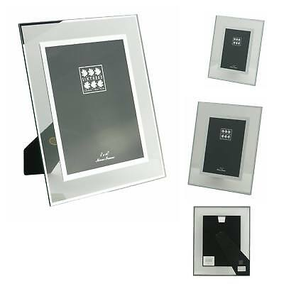 "Flat Glass & Mirror Line inset Photo Frame 6""x 4"" -10""x 8"" - Sixtrees Lenton"
