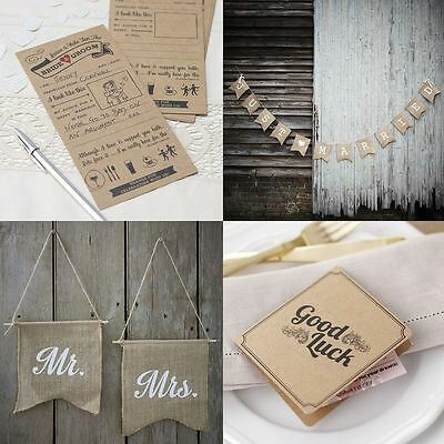 Ginger Ray Vintage Affair Rustic Wedding Buntings Flags Signs Stationery