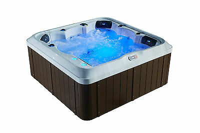 5 Person Acrylic Hot Tub LEDs, Waterfall, Cover & Free delivery