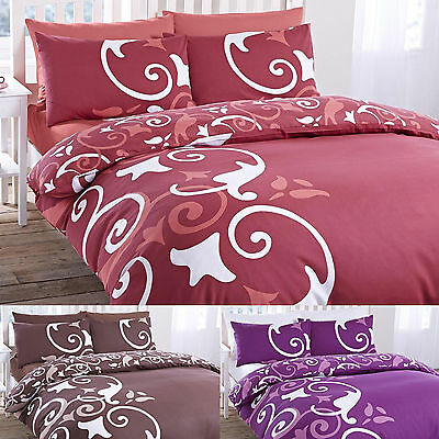 Abigail Floral Duvet Quilt Cover And Pillowcase Set Single Double King All Sizes