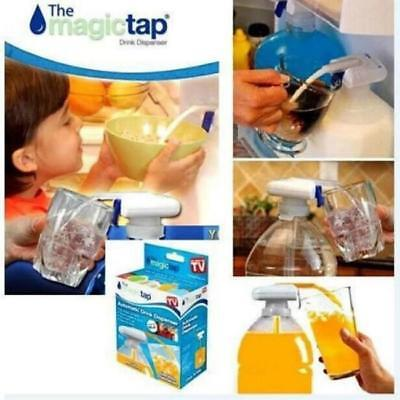 The Magic Tap Electric Automatic Water & Drink Beverage Dispenser Spill Proof TV