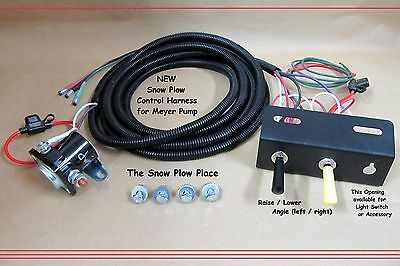snow plow control wire harness ( raise, lower, angle ) for meyer e47 e57