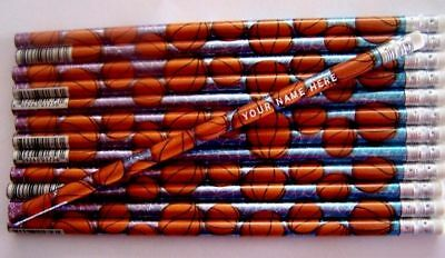 12 Basketball Personalized Pencils