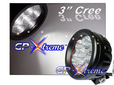 "Pair 3.5"" 18W LED Round Universal DRL Fog Light Lamp ATV Motorcycle Truck Jeep"
