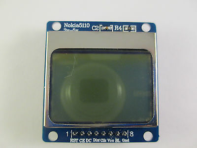 Nokia 5110 84x48 LCD Screen Module With Soldered Pins for Arduino or Pi