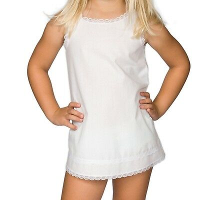 Little Girls White Simple A-Line Full-Slip, (6month - 6x)