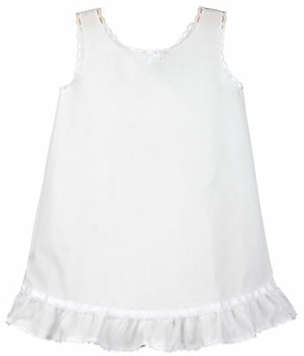 Girls White Embellished A-Line Full-Slip, (2T - 14)