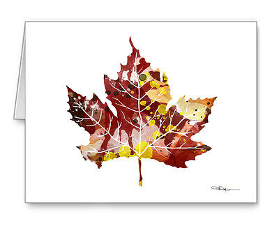 MAPLE LEAF Note Cards With Envelopes