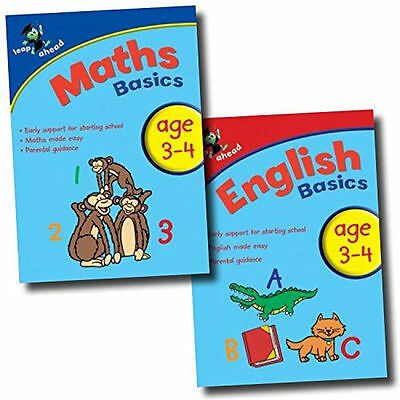 Leap ahead Maths and English  Basics ages 3-4, 2 Set Books