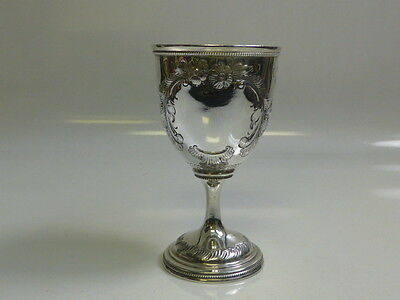 Antique American Coin Silver Chalice / Goblet - Gorgeous Hand Chased Design
